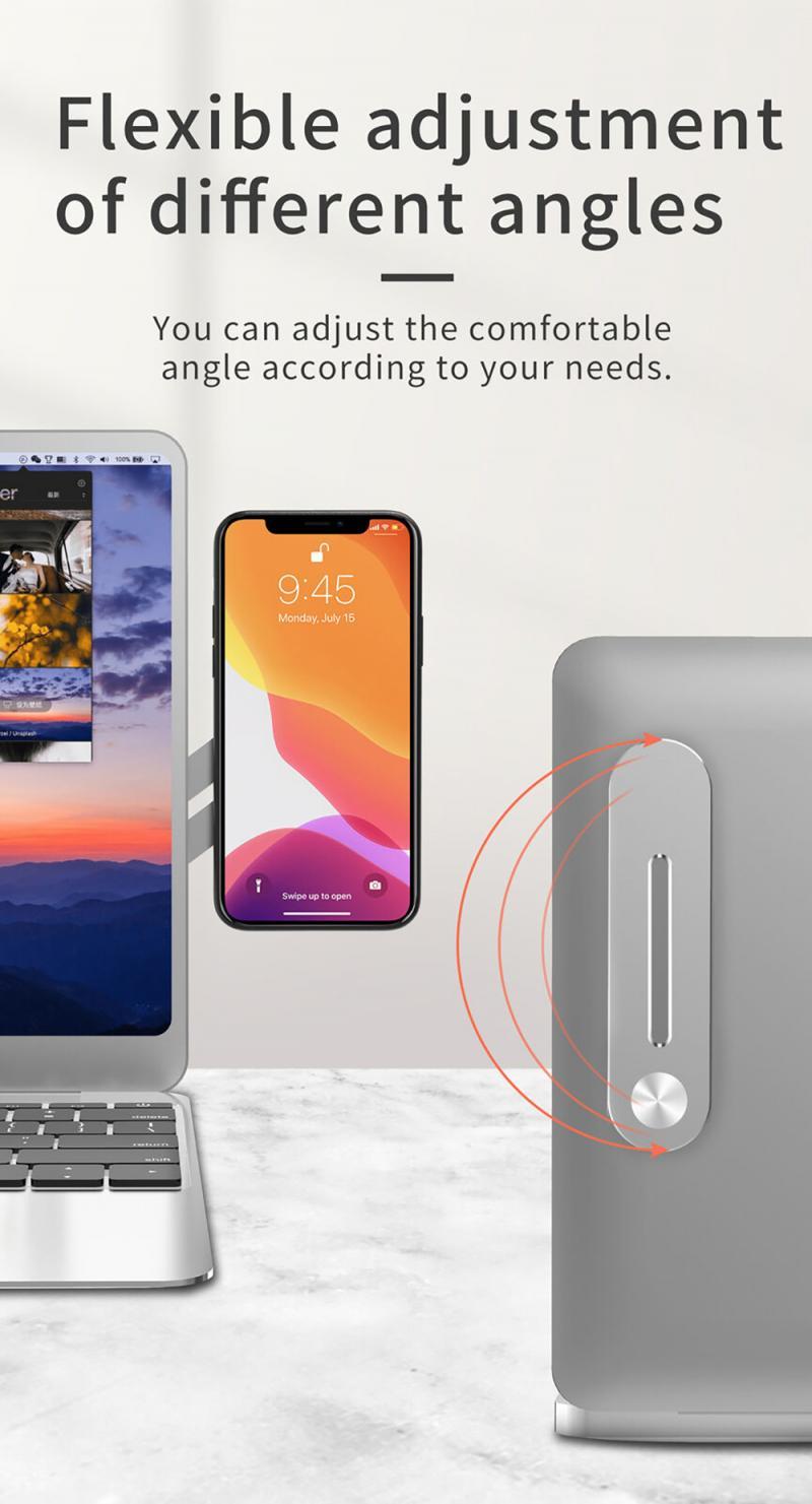 arcadia.zone Adjustable Laptop Side Mount Clip